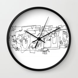 Whispering And Listening Wall Clock