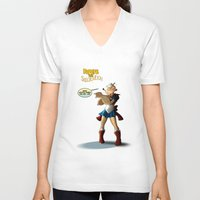 popeye V-neck T-shirts featuring Popeye the Sailor Moon by bluthan