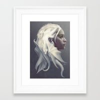 thrones Framed Art Prints featuring Mother of Dragons by Artgerm™