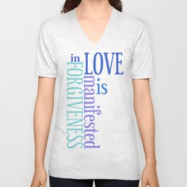 Love is Forgiveness Unisex V-Neck