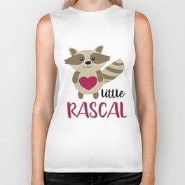 Little Rascal Raccoon Kids Cute Forest Animal Biker Tank