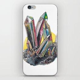 Rainbow Metallic Crystals iPhone Skin