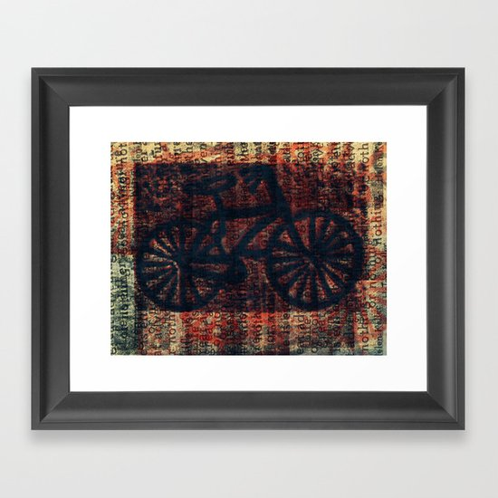 """Bike"" Framed Art Print"