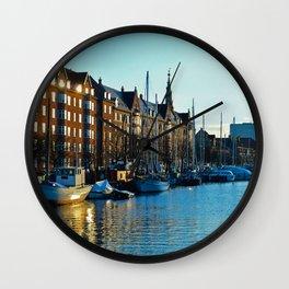 Copenaghen's river Wall Clock