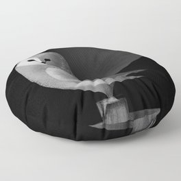 Barn Owl Full Moon Floor Pillow
