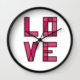 Love Typography Wall Clock