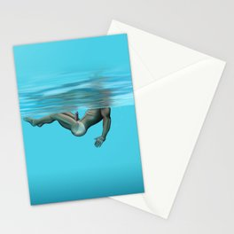Swimming in the pool Stationery Cards