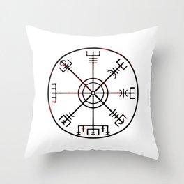 Vegvísir Throw Pillow