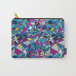 Geometric Skulls Carry-All Pouch