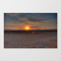 Sunrise Over The Negev Canvas Print