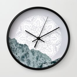 Ice Tipped Mountains Wall Clock