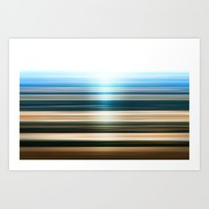 Canyon Stripes Art Print