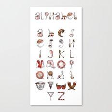 Spills & Spoons Alphabet Canvas Print