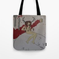 abigail larson Tote Bags featuring Abigail by Labartwurx