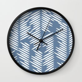 Leaves abstract in blue Wall Clock