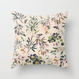 Shirley Meadow Colorful Throw Pillow
