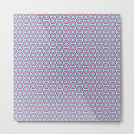 Donuts Tiles Metal Print