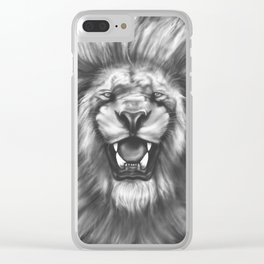 Courageous (Original drawing) Clear iPhone Case
