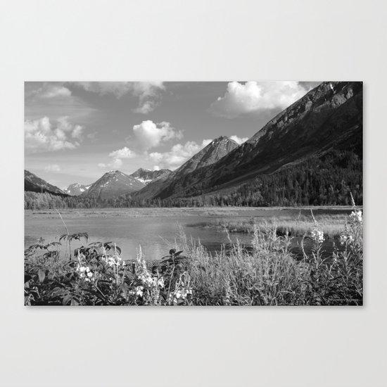 Tern Lake - Mono 2 Canvas Print