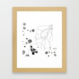 Lady ink Framed Art Print