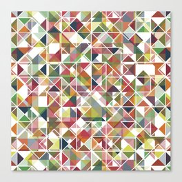 Chromatic Grid Canvas Print