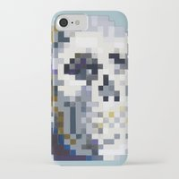 8bit iPhone & iPod Cases featuring 8Bit Skull by Delton Demarest
