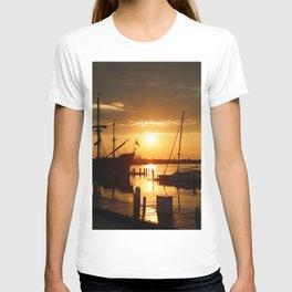 Boat Sunrise 1 T-shirt