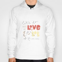 marc johns Hoodies featuring marc jacobs quote by Mandie Kuo