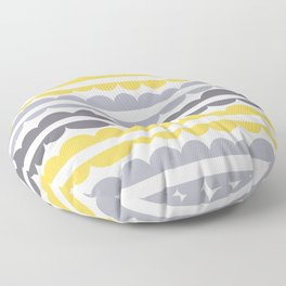 Mordidas Primrose Yellow Floor Pillow