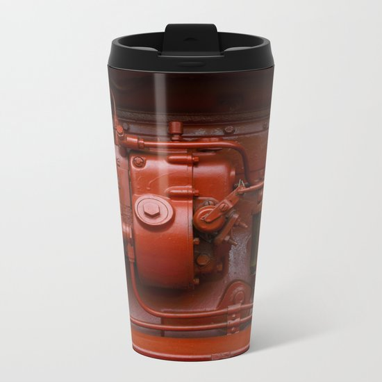 Red Tractor motor Metal Travel Mug
