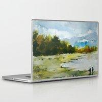 fishing Laptop & iPad Skins featuring Fishing by Baris erdem