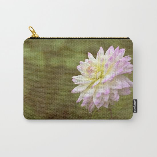 White Purple Dahlia Carry-All Pouch