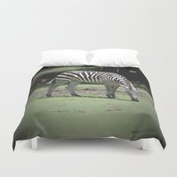 zebra Duvet Covers featuring Zebra by BeachStudio