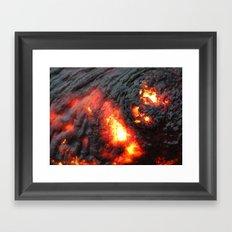 Flaming Seashell 4 Framed Art Print