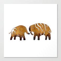 Gingerbread elephants Canvas Print