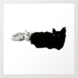 Tiny Kitties Art Print