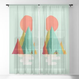 Little Geometric Tipi Sheer Curtain