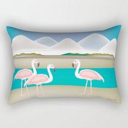 Bonaire - Skyline Illustration by Loose Petals Rectangular Pillow