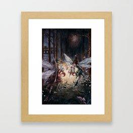 Fairies in Kensington Gardens Framed Art Print