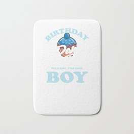 Cool Birthday Boy It's Party Time Bath Mat
