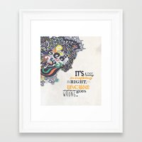 motivational Framed Art Prints featuring Quote - Motivational  by Katie Melrose