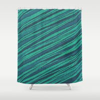 rocks Shower Curtains featuring rocks by spinL