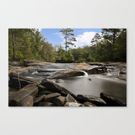 Hidden Rocky River Canvas Print