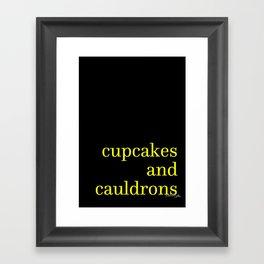 Cupcakes and Cauldrons Framed Art Print