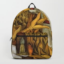 La Fiesta del Maiz - The Maze Festival Harvest by Diego Rivera Backpack