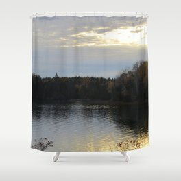Downeast Autumn Reflections of Scattered Illuminations Shower Curtain