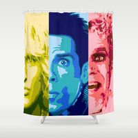 will ferrell Shower Curtains featuring Zoo Pop by victorygarlic - Niki