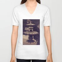 serenity V-neck T-shirts featuring Serenity by Strange Charm