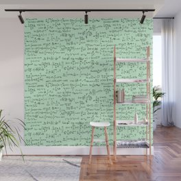 Math Equations // Light Green Wall Mural