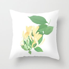 honey suckle Throw Pillow